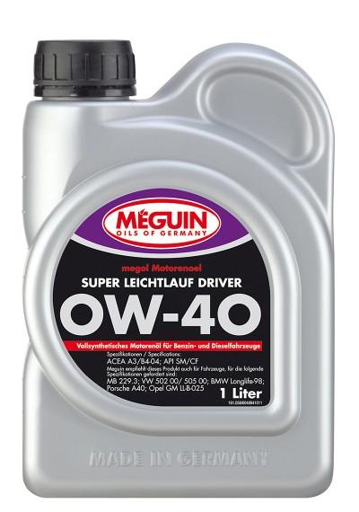 Meguin Super Leichtlauf Driver 0W-40, 1л.