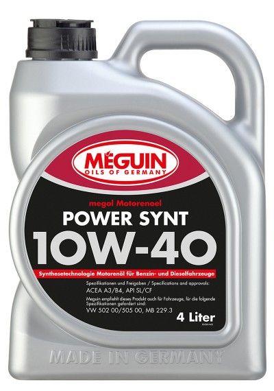 Meguin Power Synt 10W-40, 4л.