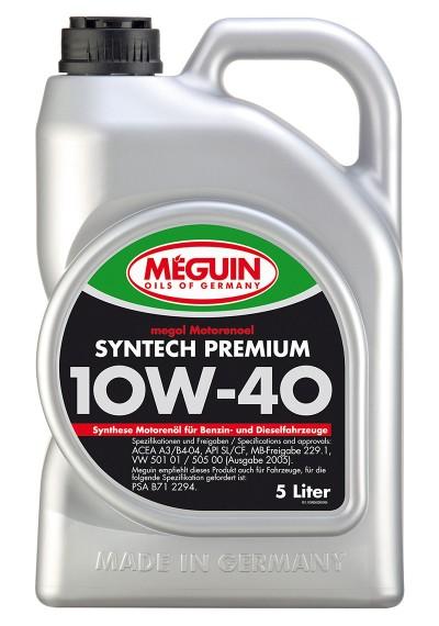 Meguin Syntech Premium 10W-40, 5л.