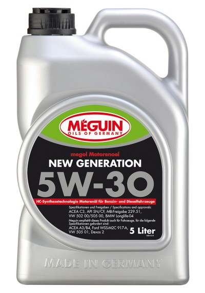 Meguin New Generation 5W-30, 5л.
