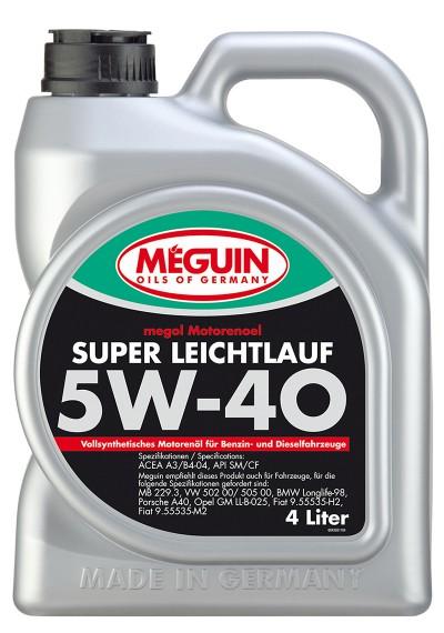 Meguin Super Leichtlauf 5W-40, 4л.