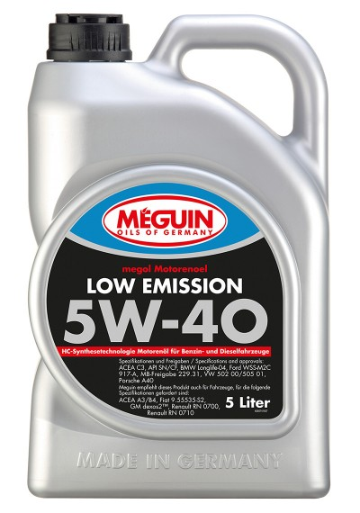 Meguin Low Emission 5W-40, 5л.