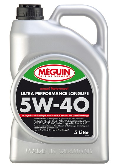 Meguin Ultra Perfomance Longlife 5W-40, 5л.